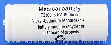 Welch Allyn Replacement Rechargeable Medical Battery 72300 3.5V 800mAh