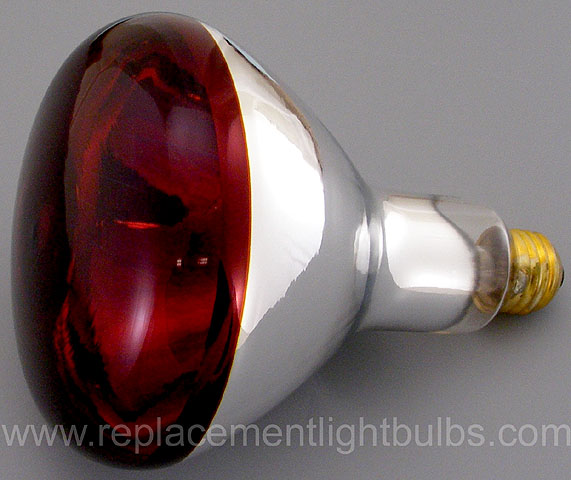 GE 250R40/10 250W 120V Red Heat Lamp, Replacement Light Bulb