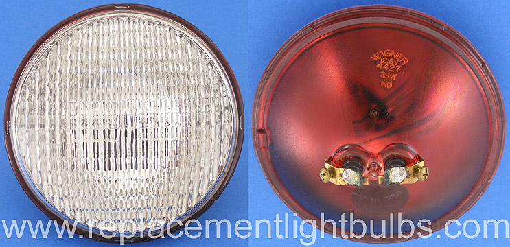 Wagner 4427 12.8V 35W Red Back Sealed Beam Tractor Lamp