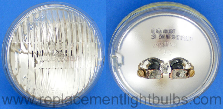GE 4626 28V 150W Aircraft Fog Sealed Beam Lamp