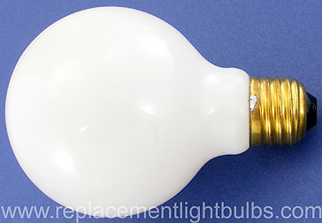 60G25F-130V White Frosted 60W Globe Lamp, Replacement Light Bulb