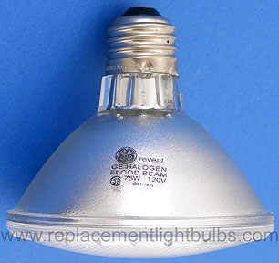 GE 75PAR30/H/FL25/RVL 75W 120V Reveal Halogen Flood Beam Light Bulb