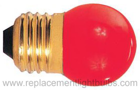 7.5S11R Red 7.5W 130V S11 Glass, E26 Base, Lamp Replacement Light Bulb
