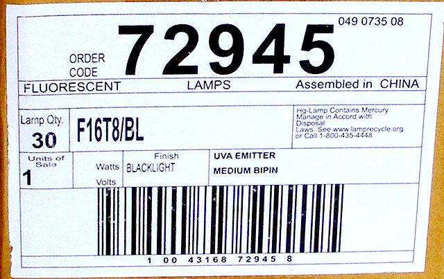 F16T8/BL Label