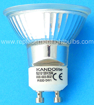 kandolite jdr c 120v 25w gu10 red light bulb replacement lamp. Black Bedroom Furniture Sets. Home Design Ideas