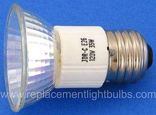 JDR-C 120V 35W E26 Cover Glass, Medium Flood Lamp, Replacement Light Bulb
