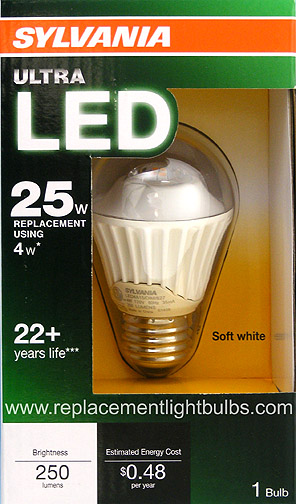 Sylvania LED4A15/DIM/827 4W Dimmable 25W A15 LED Replacement Light Bulb