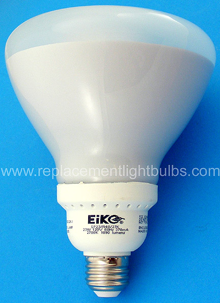 Eiko SP23/R40/27K 23W 120V 2700K Reflector Flood Fluorescent Lamp Light Bulb