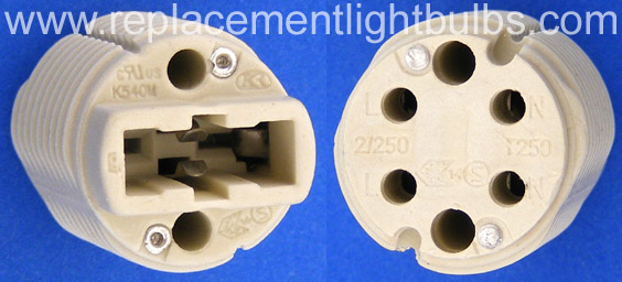 K540M Lamp Socket, Front and Back