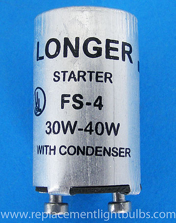 FS-4 FS4 Fluorescent Lamp Starter with Condenser for 30W-40W Lamps